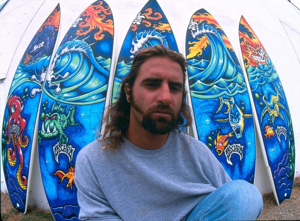 Drew Brophy 5 Surfboard Mural late 1990s LOST