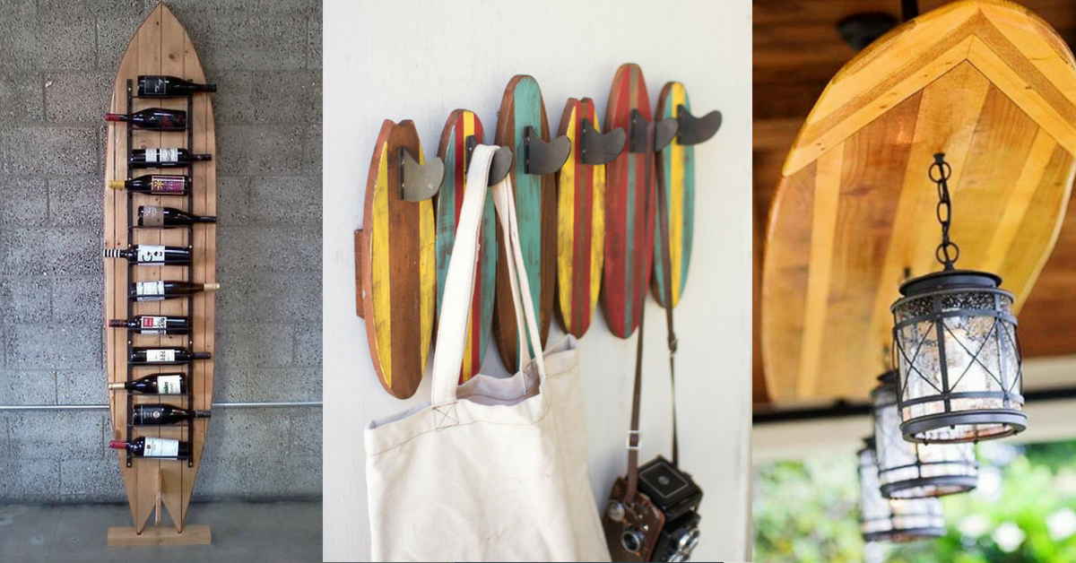 16 Surfboard Themed Home Decoration Ideas